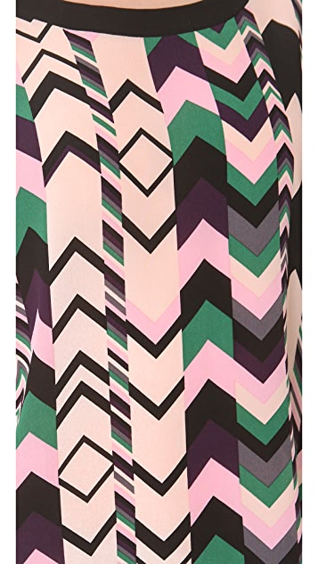 M Missoni Zigzag Silk Oversized Tunic