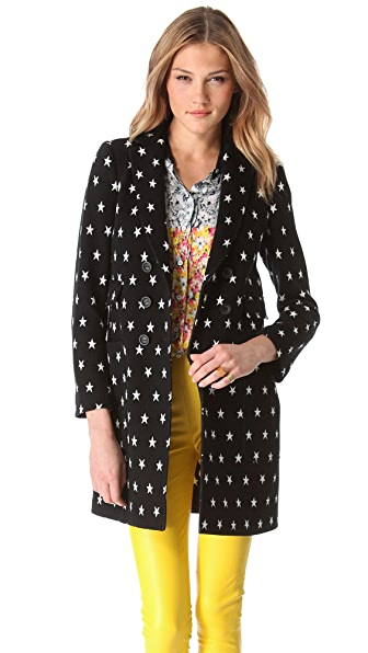 M Missoni Star Double Knit Coat