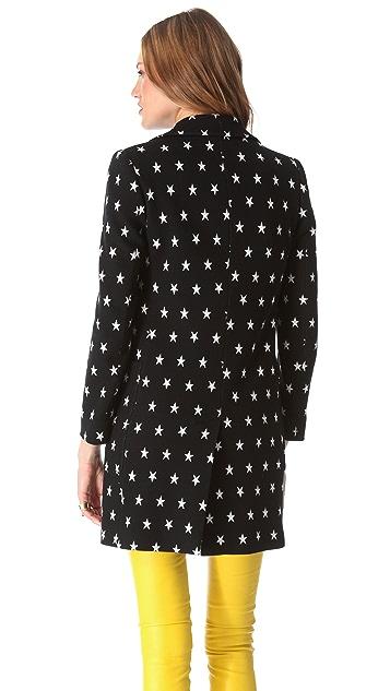 M Missoni Star Double Knit Coat