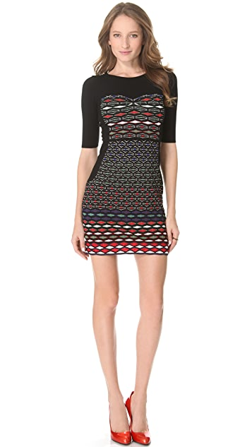 M Missoni Diamond Stripe Dress