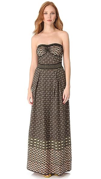 M Missoni Metallic Honeycomb Maxi Dress