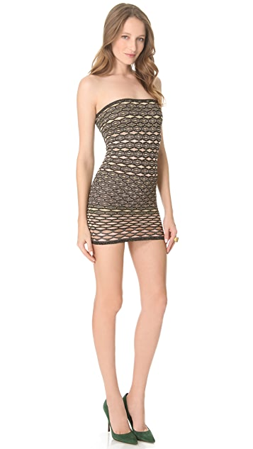M Missoni Metallic Honeycomb Skirt / Tube Dress