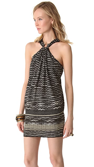 M Missoni Metallic Zigzag Dress