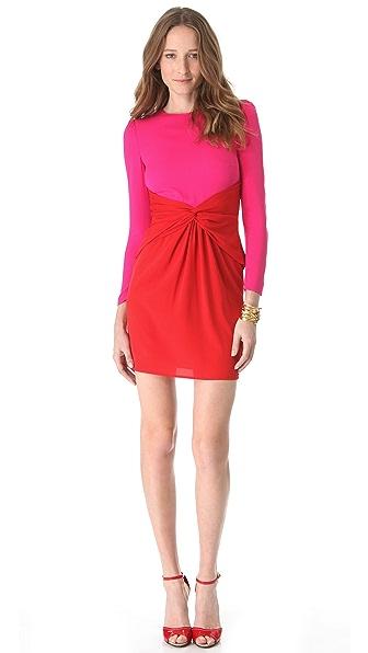 M Missoni Color Block Tie Waist Dress