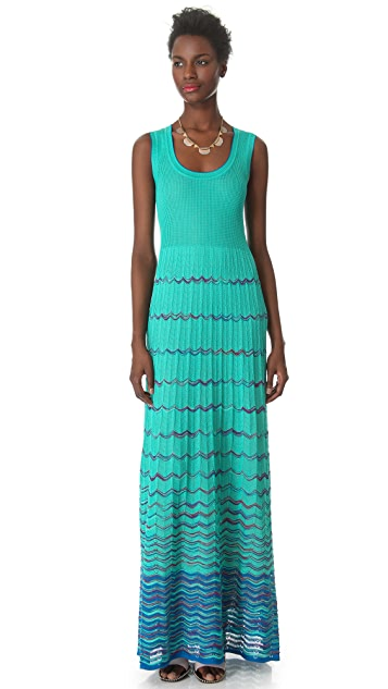 M Missoni Wave Stripe Maxi Dress