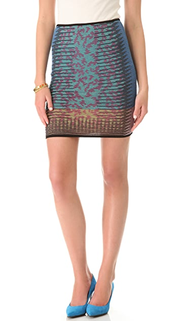 M Missoni Space Dye Animal Print Skirt
