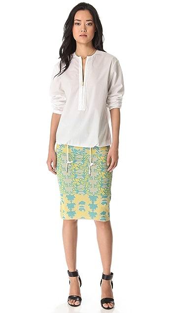 M Missoni Tropical Intarsia Tube Skirt