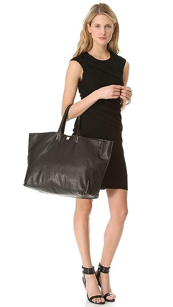 M Missoni Large Leather Tote