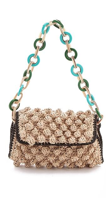M Missoni Rafia Shoulder Bag