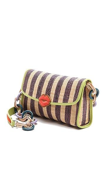 M Missoni Raffia Stripe Shoulder Bag