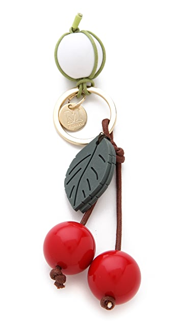 M Missoni Cherry Keychain