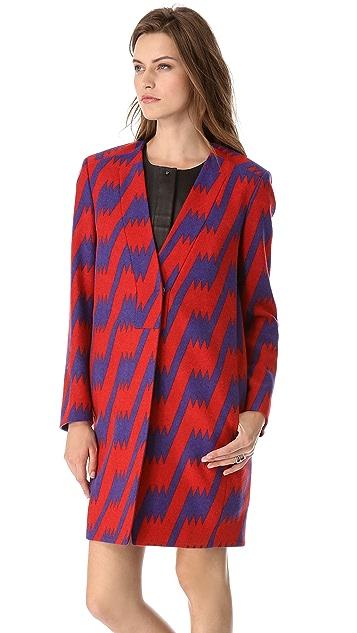 M Missoni Lightning Bolt Wool Coat