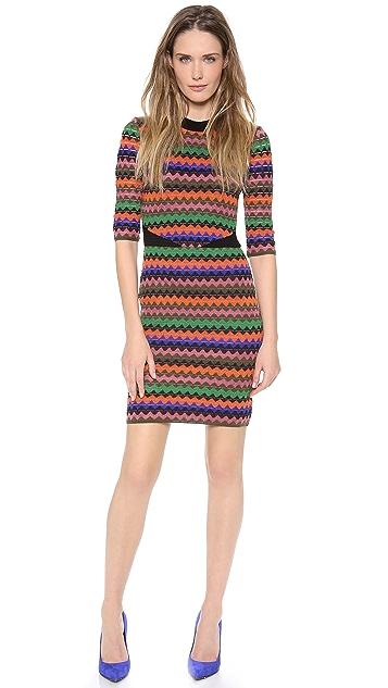 M Missoni Tubular Zig Zag Dress