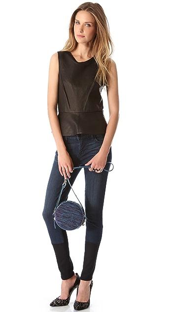 M Missoni Studded Woven Cross Body Bag