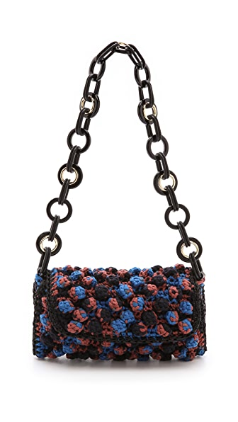 M Missoni Chain Link Woven Shoulder Bag