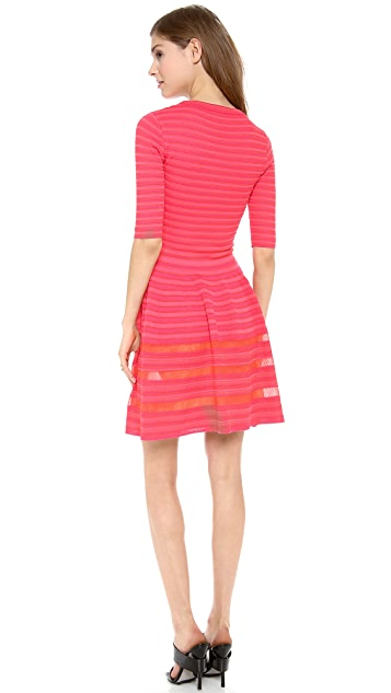 M Missoni Ribbed Short Sleeve Dress