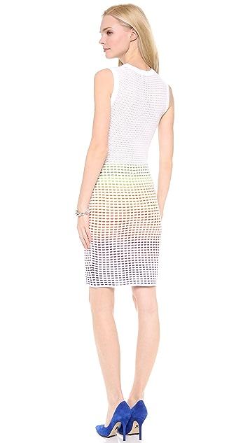 M Missoni Grid Stitch Sleeveless Dress