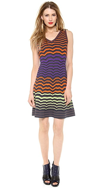 M Missoni Colorblock Zigzag Dress