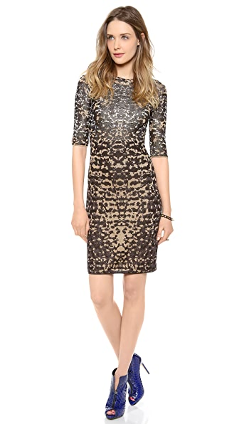 M Missoni Lurex Lizard Jacquard Dress