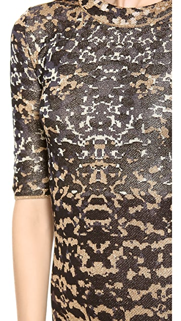 M Missoni Lurex Lizard Jacquard Dress