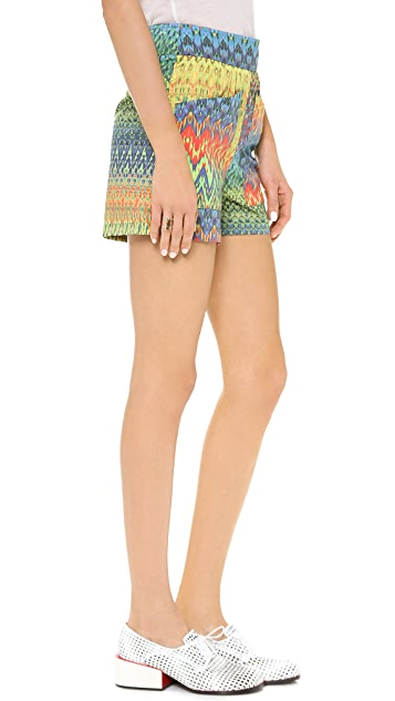 M Missoni Zigzag Print Shorts