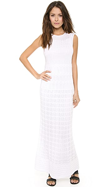 M Missoni Solid Knit Maxi Dress