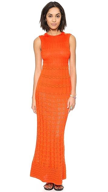 M Missoni Solid Knit Maxi Dress