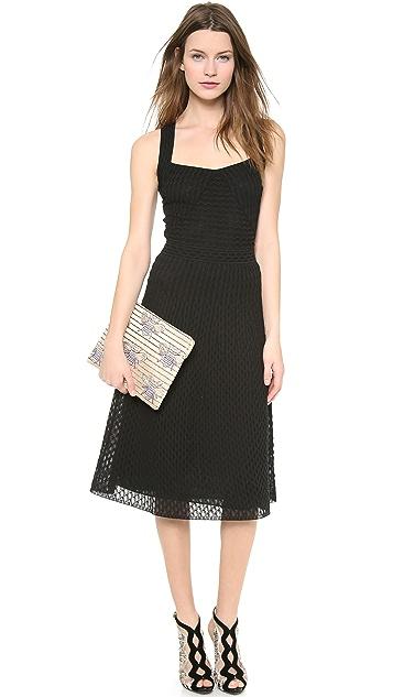 M Missoni Solid Micro Fan Pattern Dress
