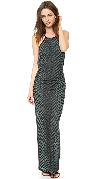 M Missoni Web Relief Open Back Maxi Dress