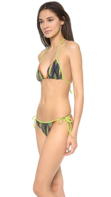 M Missoni Digital Diamond Print Triangle Bikini