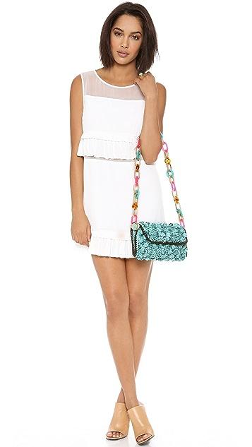 M Missoni Melange Raffia Shoulder Bag