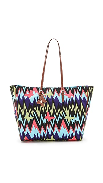 M Missoni Zigzag Canvas Tote