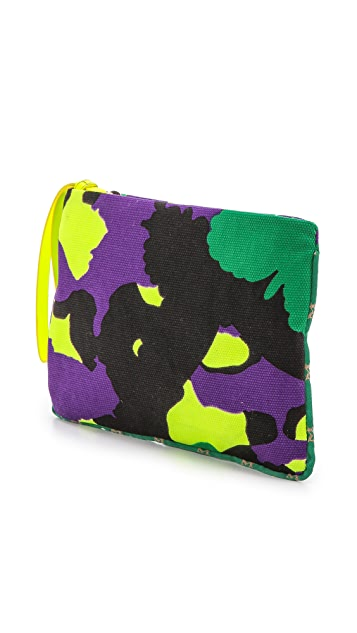 M Missoni Camouflage Canvas Pouch