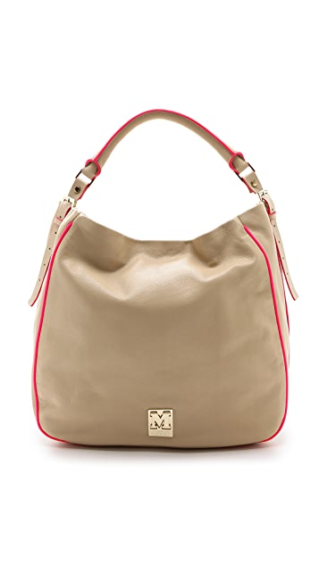 M Missoni Leather Hobo Bag