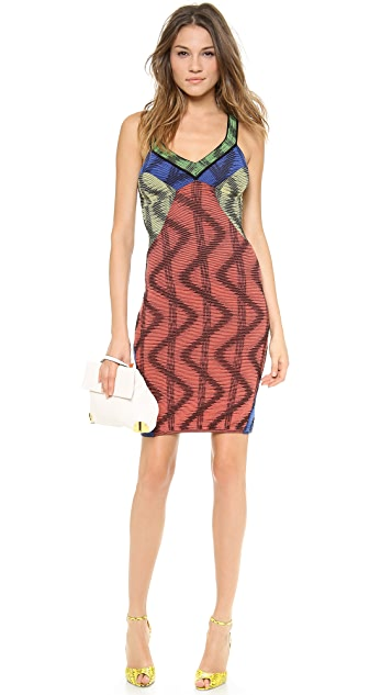 M Missoni Colorblock Open Work Dress