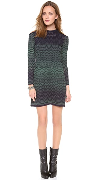 M Missoni Asymmetrical Zigzag Dress