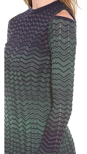 M Missoni Asymmetrical Zigzag Dress