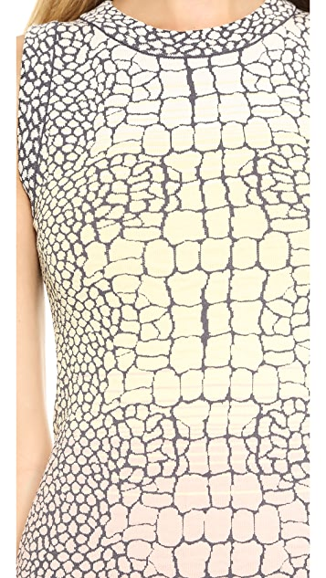 M Missoni Crocodile Jacquard Sleeveless Dress