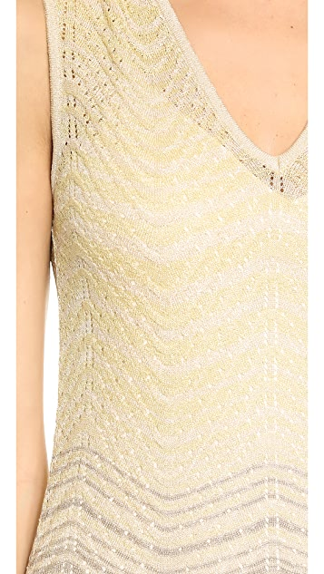M Missoni Lurex Ripple Knit Maxi Dress