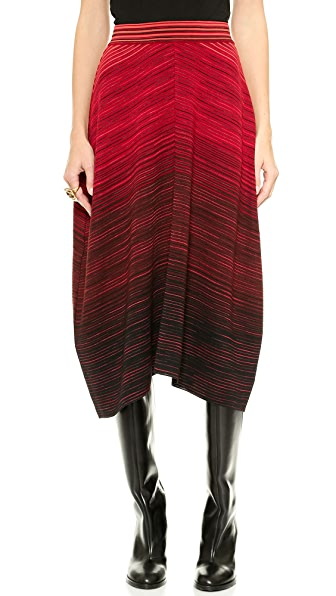 M Missoni Colorblock Flat Space Dye Skirt