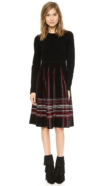 M Missoni Tartan Plaid Knit Dress