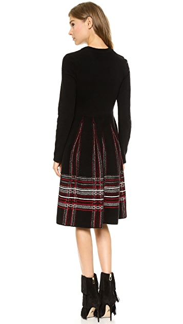 M Missoni Tartan Plaid Knit Dress