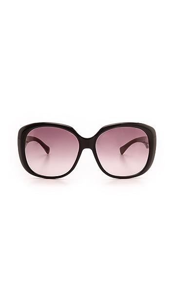 M Missoni Striped Temple Sunglasses
