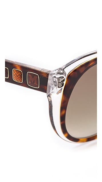 M Missoni Cat Eye Layered Sunglasses