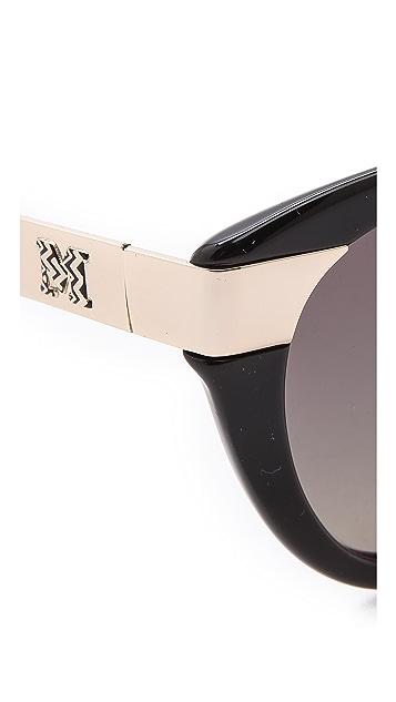 M Missoni Cat Eye Stripe Sunglasses