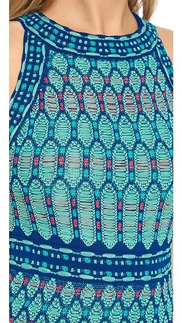 M Missoni Crochet Knit Dress