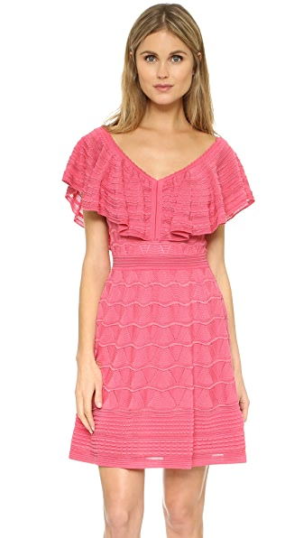 M Missoni Knit V Neck Dress - Pink