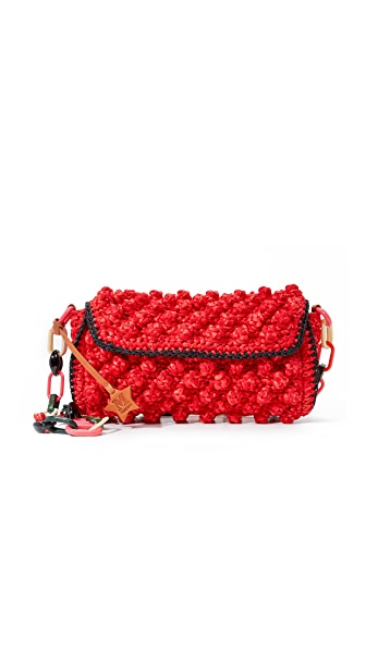 M Missoni Raffia Shoulder Bag