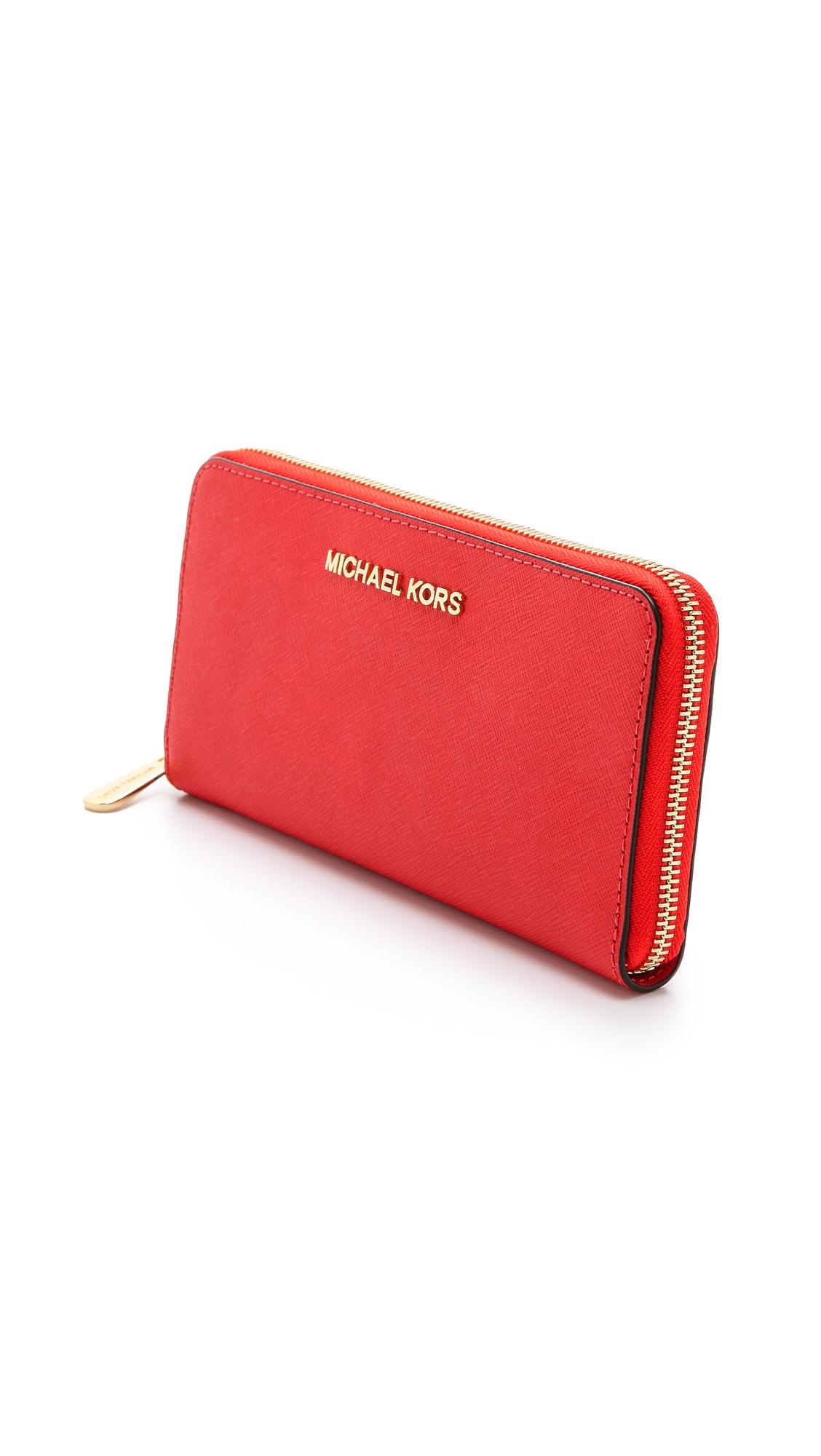 michael michael kors jet set zip around continental wallet shopbop rh shopbop com