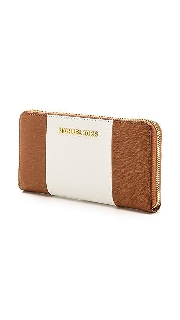 MICHAEL Michael Kors Jet Set Travel ZA Continental Wallet